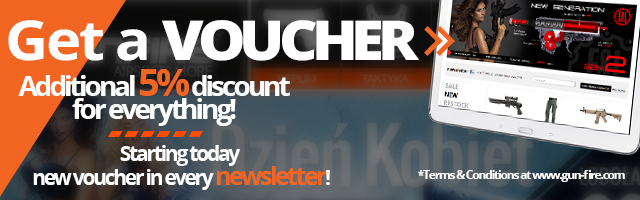 5% voucher in every newsletter